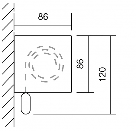 maxi premium rollo f r wandmontage mit blende. Black Bedroom Furniture Sets. Home Design Ideas