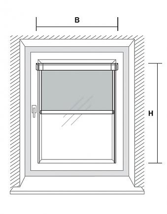 mini rollo f r fensterfl gelmontage. Black Bedroom Furniture Sets. Home Design Ideas