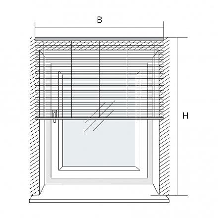 innenjalousie f r wandmontage. Black Bedroom Furniture Sets. Home Design Ideas