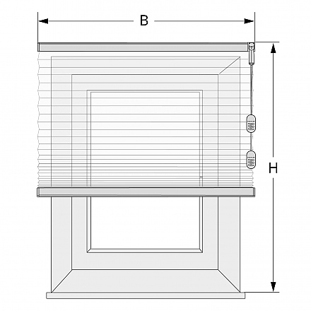 plissee bei wandmontage richtig abmessen. Black Bedroom Furniture Sets. Home Design Ideas